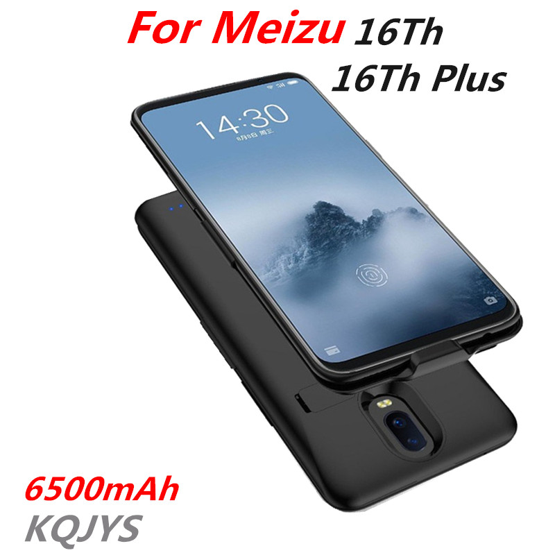 KQJYS 6500mAh External Mobile Power Battery ChargerCase For Meizu 16Th Plus Portable Backup Battery Charging Case For MEIZU 16Th