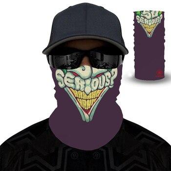 2020 New 3D Clown Windproof Seamless Magic Headscarf Skull Neck Bike Hat Headscarf Hiking And Cycling Headscarf