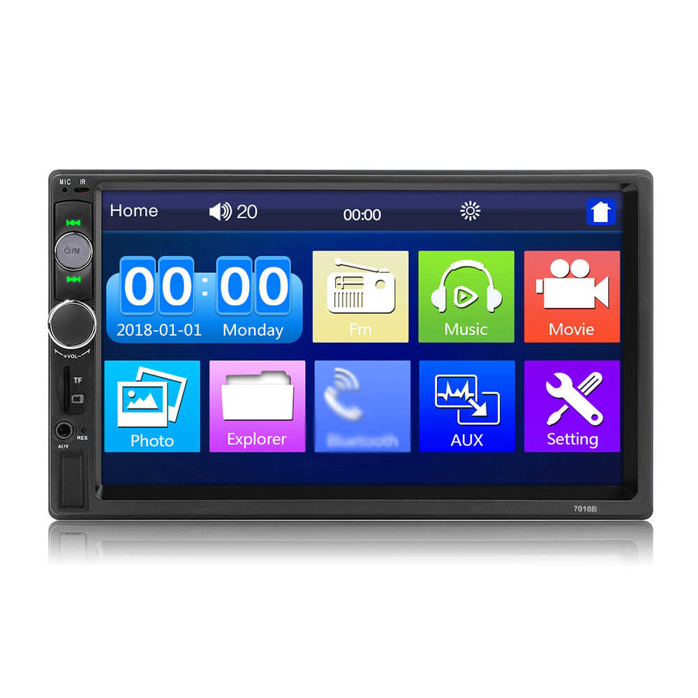 "2 Din Stereo Receiver 2din Mobil Radio Autoradio 7 ""Hd Menyentuh Layar 12V Mobil Stereo Player Bt dengan remote Control 7010B 7018B"
