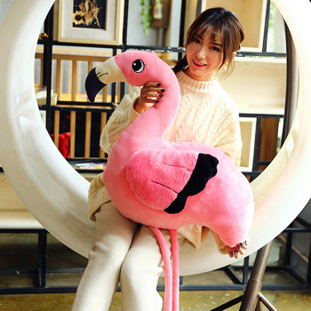 Flamingo Doll Plush Classic Toys Stuffed Animals & Plush Pillow Dolls & Accessories Baby Action & Toy Figures Cute Flamingo Doll 40cm cute otter plush toys artificial river otter doll baby stuffed plush doll animals doll wholesale drop shipping new style