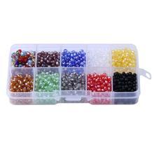 1000pcs/set 4MM Glass Beads Loose DIY Bracelet Neclace Jewelry Making