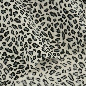 Tela De algodón con estampado De leopardo Para costura, tela De algodón...