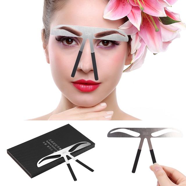 New DIY Eyebrow Ruler Eyebrow Stencils Maquiagem Ruler Beauty Tattoo Stencil Template Makeup Shaping Position Measure Tools 1
