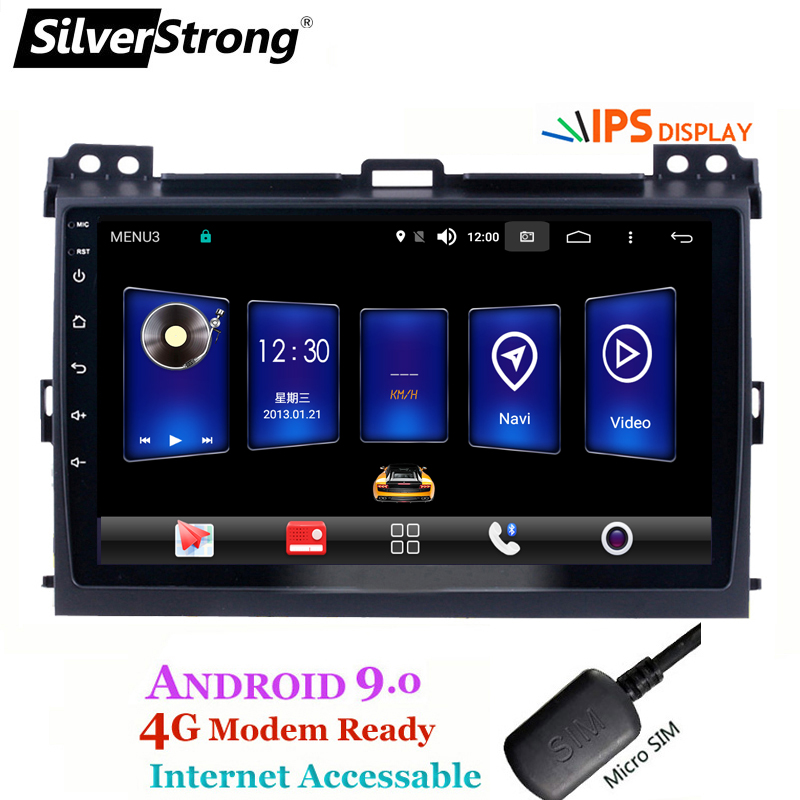 SilverStrong Android9.0 IPS 4G 9 pouces voiture GPS Radio pour Toyota Prado 120 Land Cruiser android9.0 IPS Prado120 pour PIONEER/JBL amp