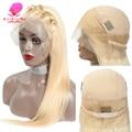 613 парик блонд Омбре Цвета 360 прозрачный парик из человеческих волос Блонд без клея отбеленные узлы предварительно выщипанный 13x4 13x6 парик на...