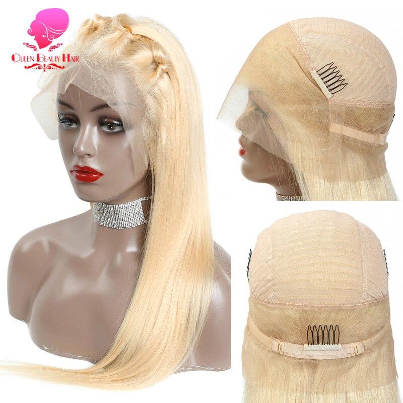 613 loira ombre cor 360 peruca do laço cabelo humano 150% densidade loira glueless descorados nós preplucked 360 peruca frontal do laço
