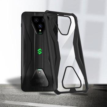 Перейти на Алиэкспресс и купить MME Xiaomi Black Shark 3/3 Pro ТПУ чехол бампер силиконовый прозрачный ПК задняя крышка Акула совместимый военный класс защита от падения ударопрочный