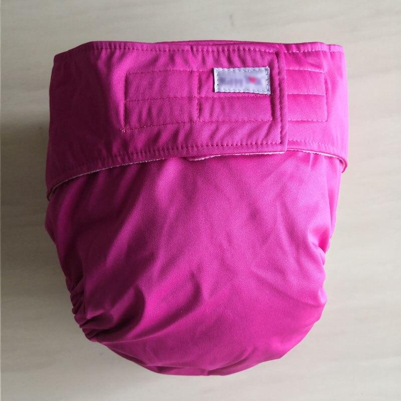 Многоразовые подгузники для взрослых для пожилых людей и людей с ограниченными возможностями, большие размеры, регулируемые термополиуретановые пальто, водонепроницаемая одежда для недержания - Цвет: pink