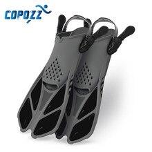 Aletas de buceo profesionales para pies, ajustables, para adultos y niños, cómodas aletas de natación, equipo de natación