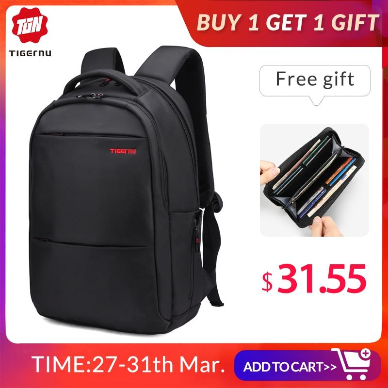 Tigernu Brand Splashproof Men Backpack Business Computer Backpack Bag Women Backpack Men's Laptop Bag Backpack 15.6