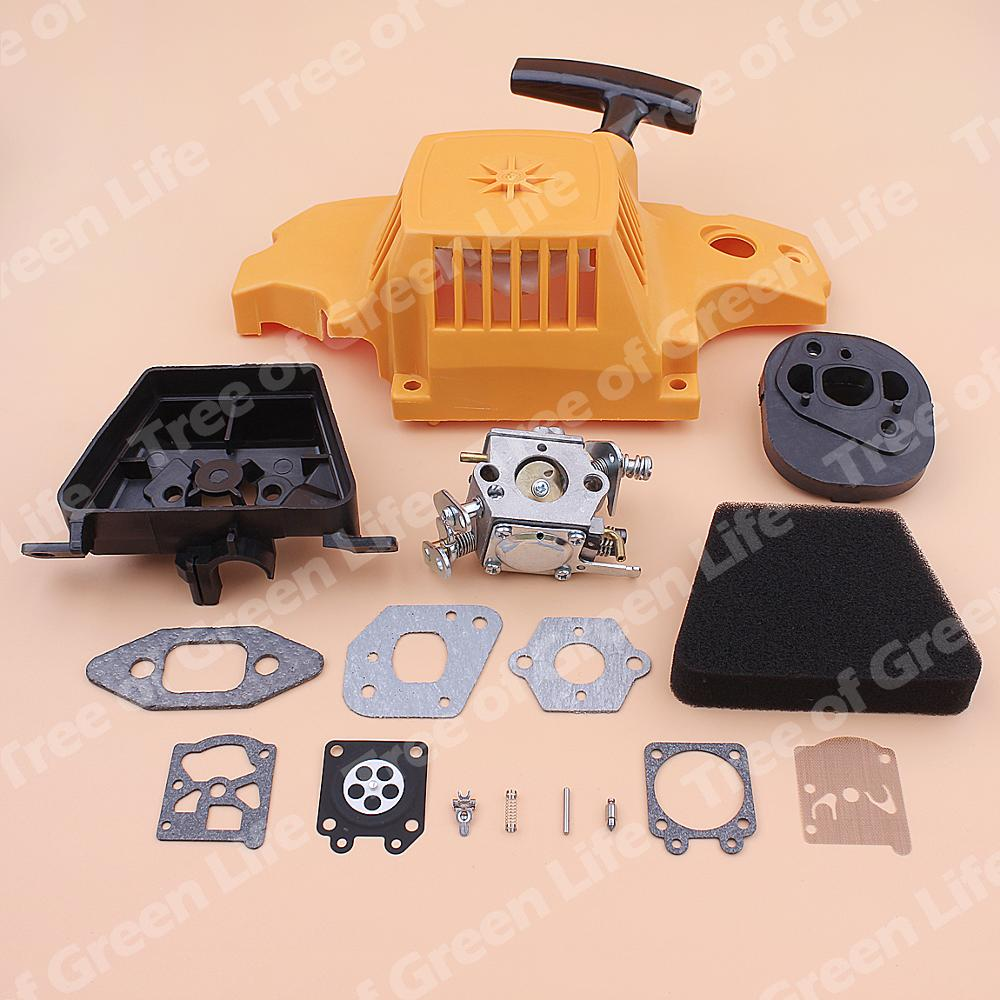 Rewind Air Recoil Partner For Cover Carburetor 351 Gasket Cleaner Kit Chainsaw 350 Repair Adaptor Element Pull Filter Starter