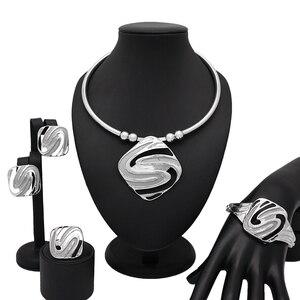 Европейский Креативный новый дизайн серебряное ожерелье браслет кольцо для женщин Рождество Новый год выпускной вечер модные Ювелирные на...