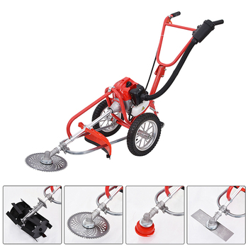 New Portable Weeding Machine High-quality Hand-push Weeder G0028 Two-stroke 52CC Host With Wheel 1.9KW 2.5 Horsepower