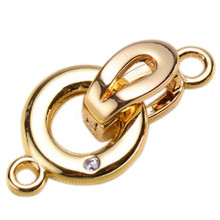 Clasps For Jewelry Making Fastening Accessories 925 silver plating Cubic Zirconia DIY Pearls Necklace Bracelet Clasp