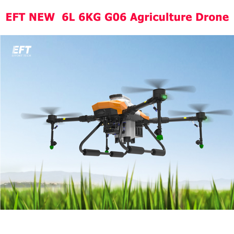 2020 NEW  EFT G06 6L Drone Four-axis 6KG RC Agriculture Spray System Extension Rod Sprayer Plant UAV Drone Accessories