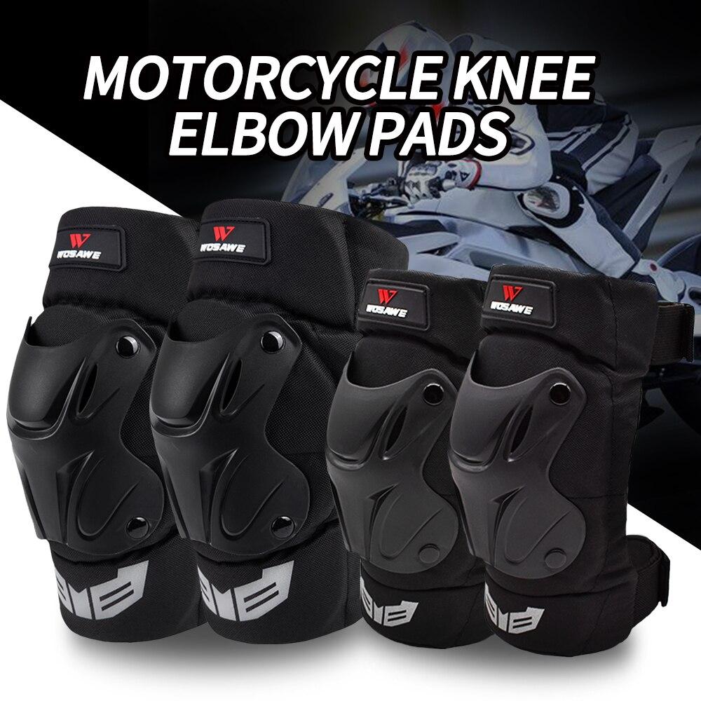 WOSAWE moto Motocross cyclisme coudières genouillères Sports extrêmes genouillère protection Ski moto sécurité genouillère protections