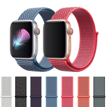 цена на Strap For Apple Watch Band Series 4 5 bands 44mm 40mm Sport Loop For iwatch band 3/2/1 42mm 38mm Correa Pulseira Nylon Watchband