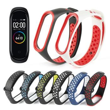 Nueva pulsera de moda para Xiaomi Mi band 4 Correa Bicolor ventilación porosa para Xiaomi pulsera 4 accesorios de pulsera inteligente
