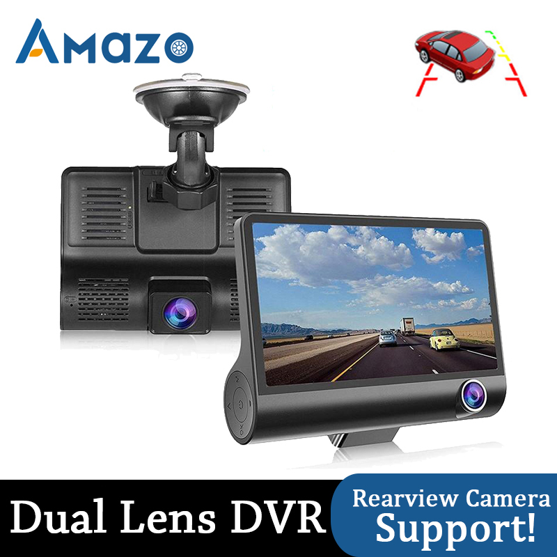 4.0 Inch Car DVR 3 Cameras Dash Camera Dual Lens Full HD 1080P Video Recorder Dashcam With Rearview Camera Auto Registrator Dvrs