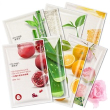 100PCS Sheet Mask Hydrating Korean Plant Fruit Extract Facial Mask Beauty Face Moisturizing Skin Care Oil-Control Cosmetics