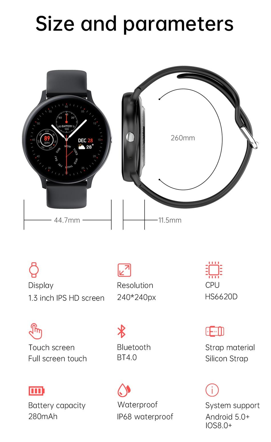 H9698cccf50e44fee9baf79fdba72bcebO LIGE New Smart Bluetooth Call Watch Men Women Heart Rate Sports fitness tracker Bracelet Watch Man for Android IOS Xiaomi Huawei