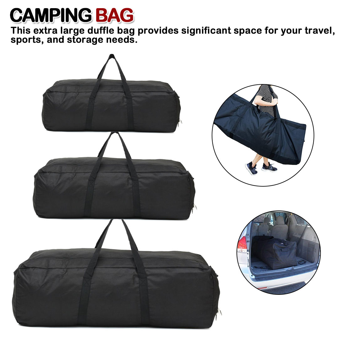 Outdoor Camping Travel Large Duffle Bags Waterproof Oxford Foldable Luggage Handbag Men Backpack Storage Pouch Tote 55/100/150L
