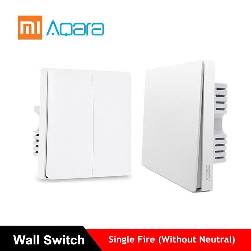 Xiaomi Aqara настенный переключатель Smart Light Switches управление ZigBee версия беспроводное подключение приложение пульт дистанционного управления умн...