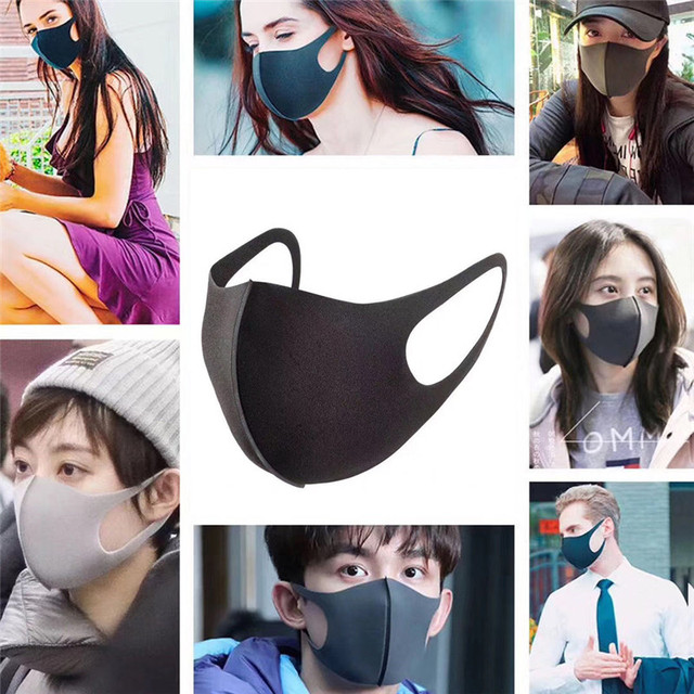 3pcs Mask anti dust mask Activated carbon filter Windproof Mouth-muffle  proof Flu Face masks Care