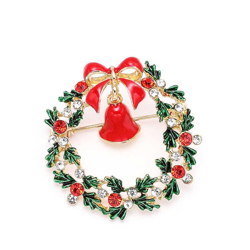 Nowe świąteczne broszki szpilki śliczne święty mikołaj kapelusz rękawiczki dzwony skarpetki pączki cukierki emalia Pin odznaki broszka dla damska biżuteria na prezent