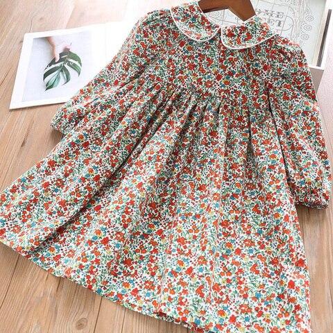 sodawn primavera menina vestido de flor padrao