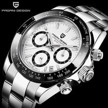PAGANI DESIGN Fashion Men Quartz Watch Sports Watch Men Stainless Steel Waterproof Chronograph mens watches top brand luxury цена и фото