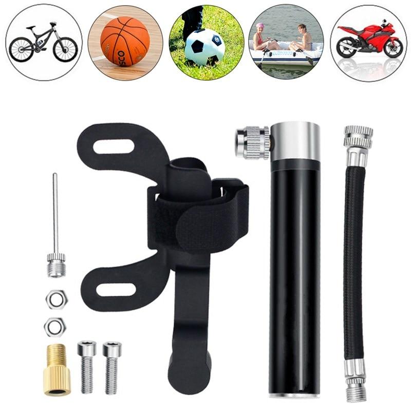 Cycling Basketball Ball Tire Inflator High Pressure Mini Bicycle Pump MTB Bike !