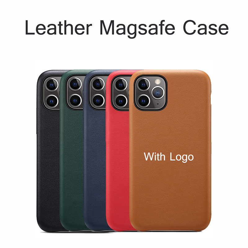 For iPhone 12pro Magsafe Case Leather Back Cover iPhone 12 mini 12 Pro Max Soft Original Genuine Leather Cases Luxury With Logo Fitted Cases  - AliExpress