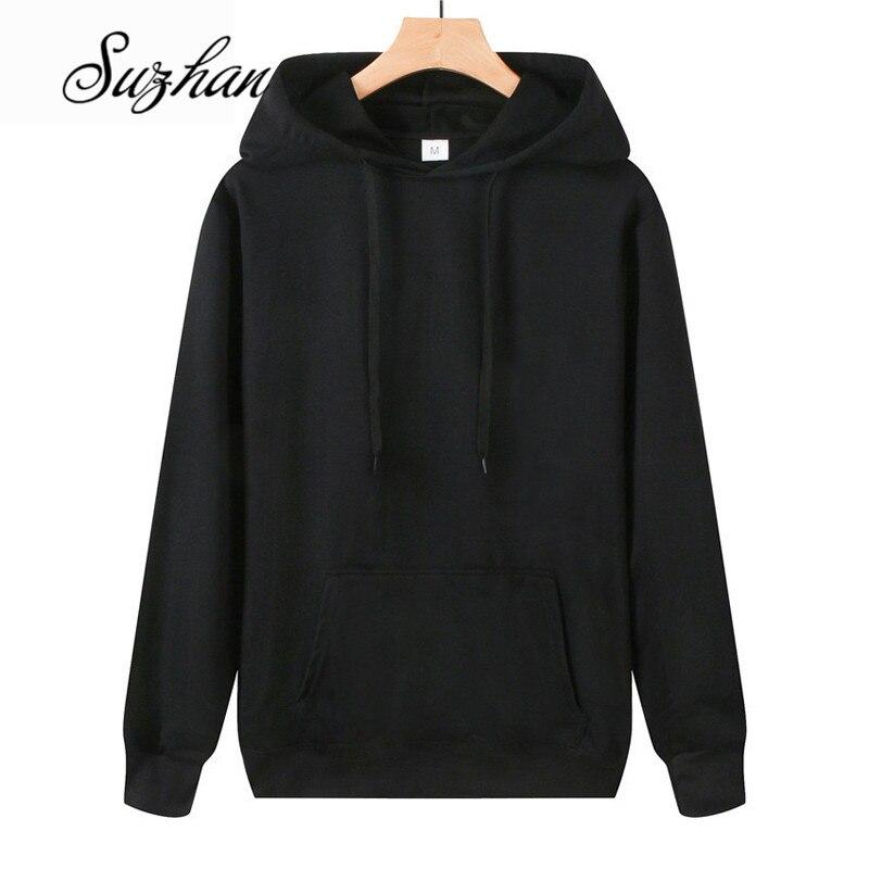 Suzhan Hoodies Sweatshirts Women Solid Long Sleeve Loose Hooded Pullover Clothes Sweatshirt Women 2019 Autumn Tops
