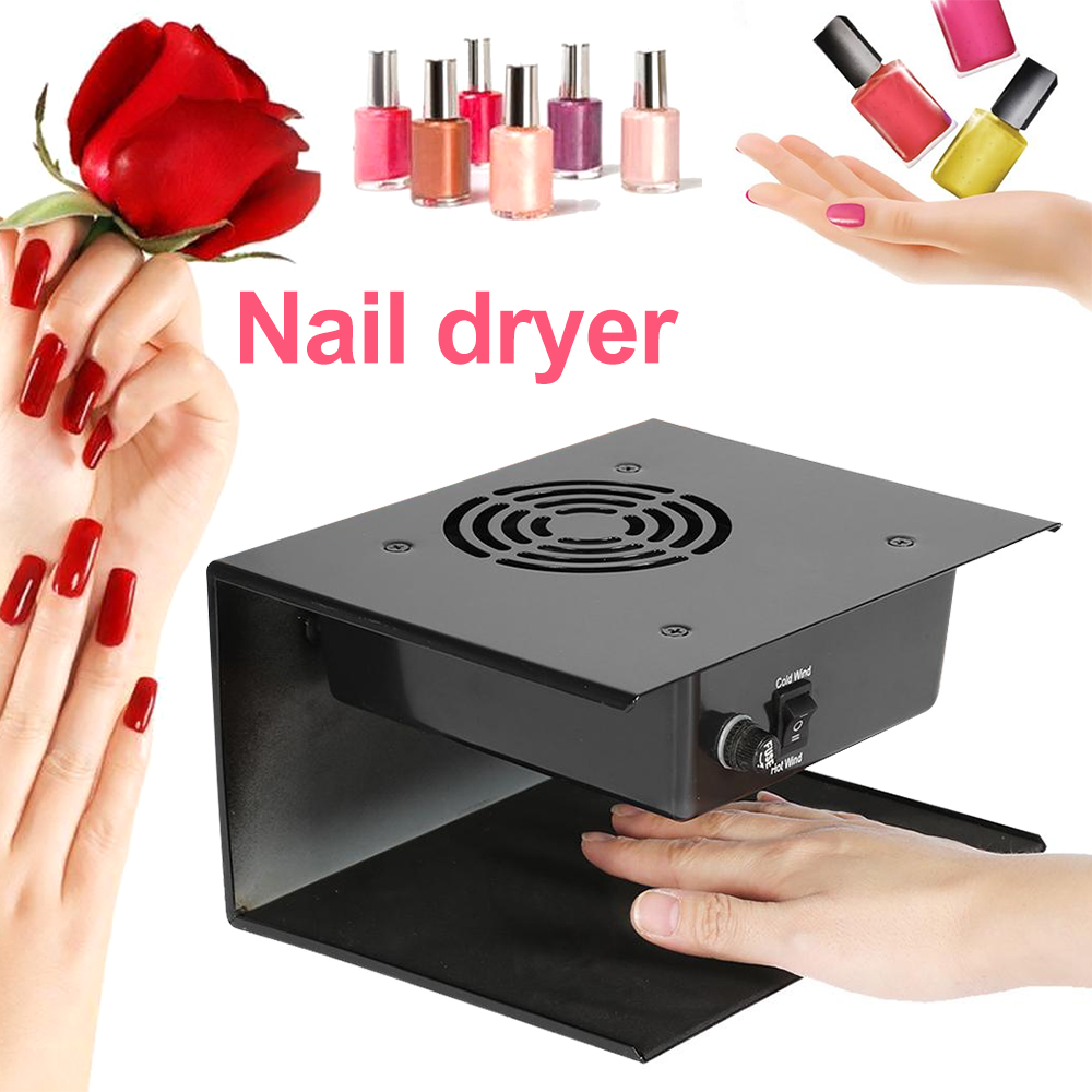 300W Air Nail Fan Blow Dryer Cold Warm Air Nail Dryer Curing Nail Art Gel Polish Dryer Nail Gel Manicure Phototherapy Tool