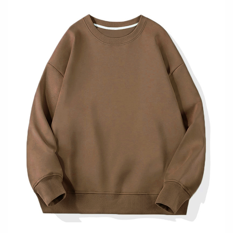 crewneck sweatshirt brown