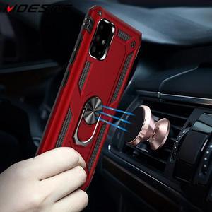 Гибридный защитный чехол для телефона Samsung Galaxy A51, A71, S20 Plus, S20, ультра ударопрочный Магнитный чехол с держателем для автомобильных колец и под...