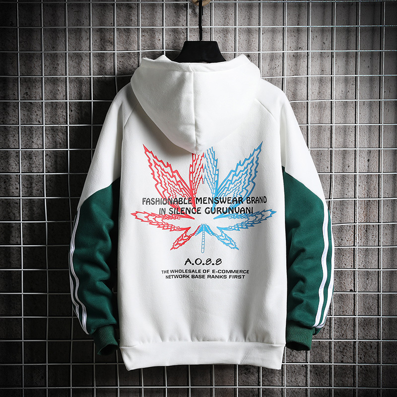 Image 2 - Мужская толстовка SingleRoad, белая толстовка в полоску, в стиле хип хоп, Японская уличная одежда, на весну 2020Толстовки и свитшоты   -