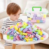 2019 nuevos niños DIY bloques de juguete bolsa de almacenamiento caja Juguetes Brinquedos Legoing bloques de construcción Duplo para bebé niña niño sobre 2 años