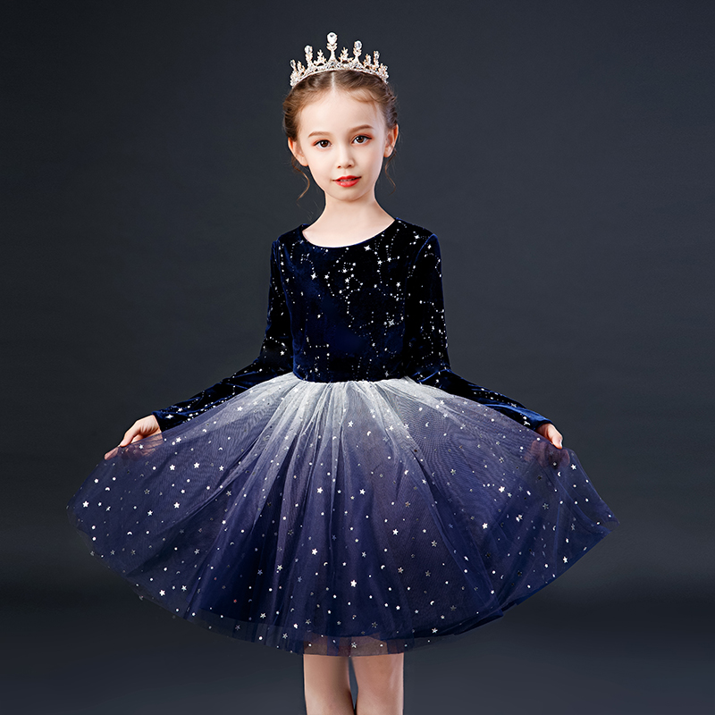 Kids girl gown dress Elegant teenager Girls Clothing Children Dresses For Wedding Party Ball Gown Princess Costume 3 <font><b>5</b></font> 10 12Year image