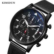 цена New Top Luxury Relogio Masculino Watch MEN  2019 fashion  mesh with waterproof luminous student quartz watch онлайн в 2017 году