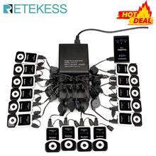 RETEKESS T130 przewodnik wycieczek System bezprzewodowy nadajnik + 15 odbiornik dla rządu fabryki logistyka szkolenia kościół tłumaczenie