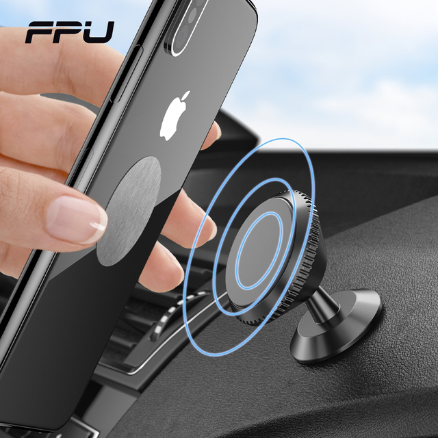 FPU Magnetic Car Phone Holder Stand For iPhone 11 Pro Max Magnet Mount Car Holder For Phone in Car Cell Mobile Phone Support GPS