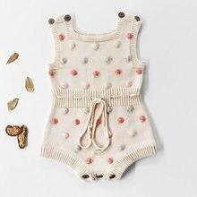 Novo 2020 Bebés Meninos Meninas Rompers Roupa Do Bebê Macacão Macacão de Malha Fio De Lã Primavera Infantil Roupas Das Meninas Dos Meninos