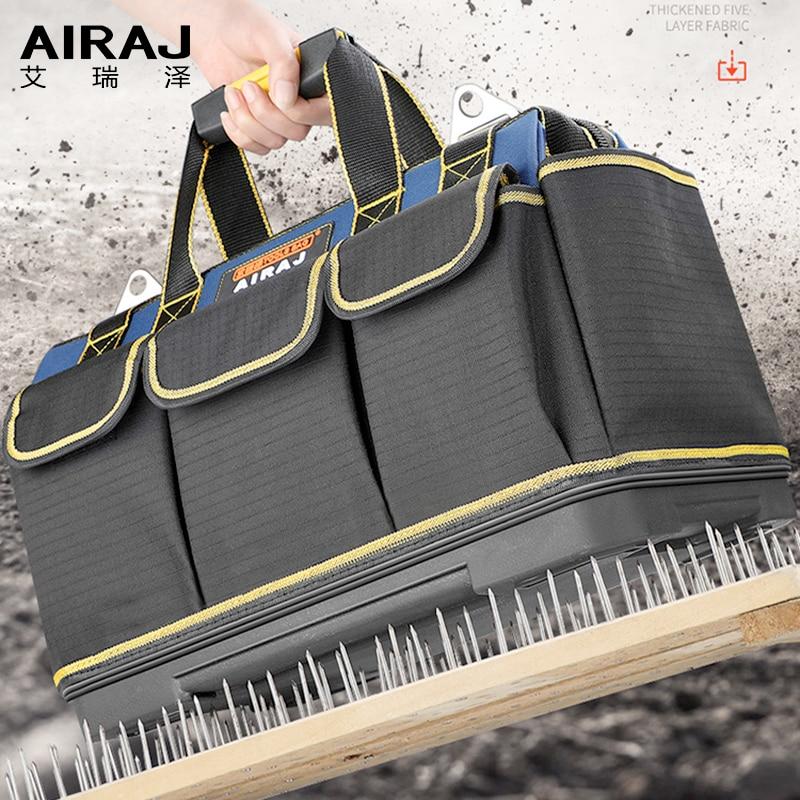 AIRAJ Upgrade Tool Bag 13/17/19/21 Inch Large Capacity Oxford Waterproof Wear-resistant  Electrician Storage Bag