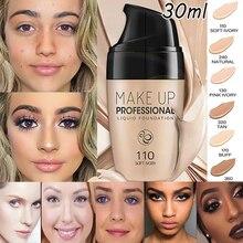 Тональный крем, полное покрытие, макияж, основа для лица, жидкая, водостойкая основа для глаз, макияж, корректор для глаз, темные круги, косметика