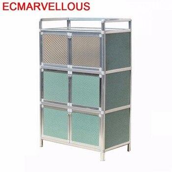China Capbords Dolap Kaplama End Tables Aluminum Alloy Kitchen Furniture Cupboard Meuble Buffet Cabinet Mueble Cocina Sideboard