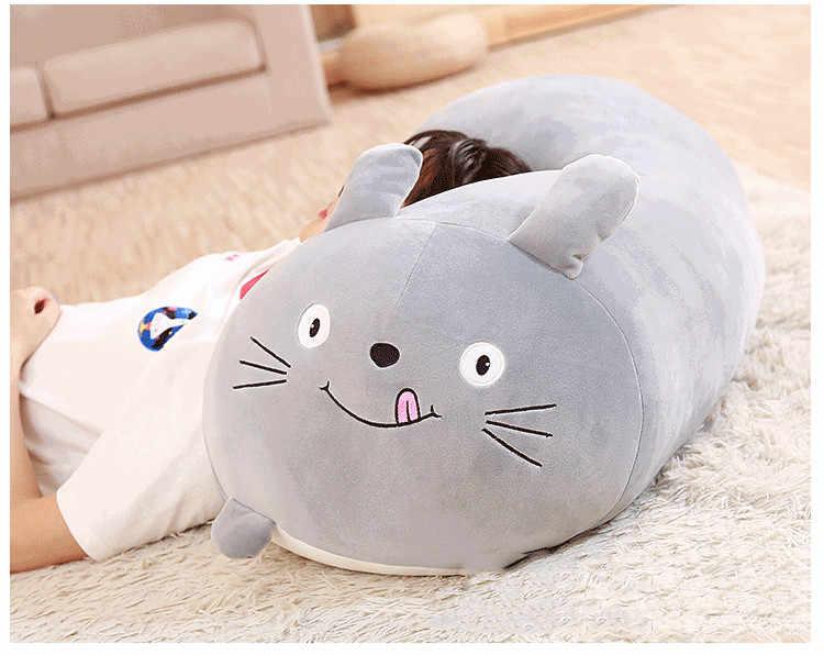 Animal macio dos desenhos animados travesseiro almofada bonito gato do cão gordo totoro pinguim porco sapo brinquedo de pelúcia enchido adorável crianças presente aniversário kawaii