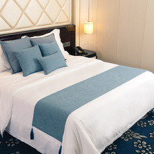 Bed Runner Bedspreads Bed-Cover Decorative Hotel Polyester/cotton Towel Home Solid Cilected
