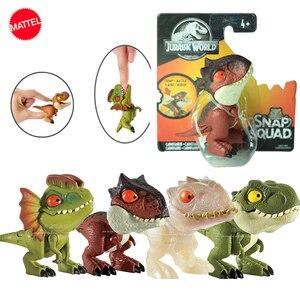Image 2 - オリジナルジュラ紀世界minifingers恐竜アクションフィギュア可動ジョイントシミュレーションモデルのおもちゃハロウィンフィグマギフト